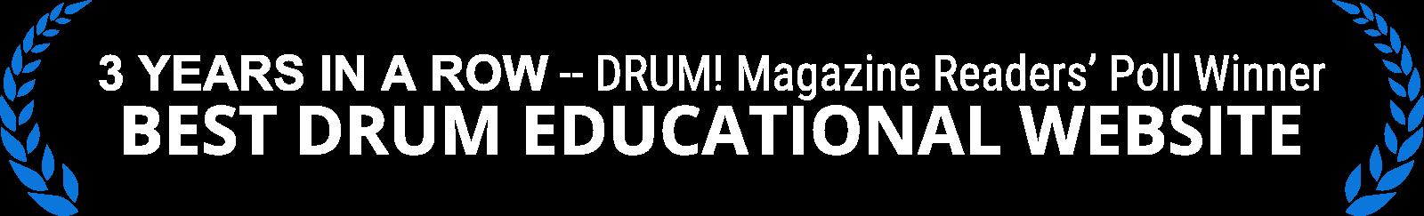 Best Drum Educational Website - DRUM! Magazine