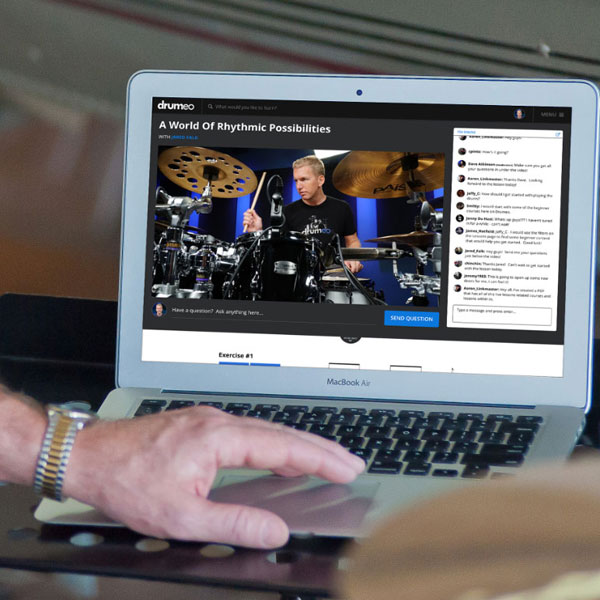 Drumeo works on most tablets, laptops, desktops, and smartphones