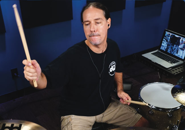 DEREK RODDY, an instructor for Drumeo.