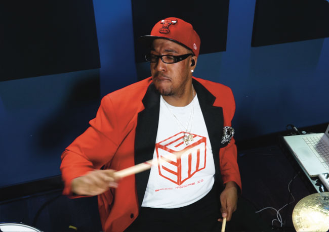 ERIC MOORE, an instructor for Drumeo.
