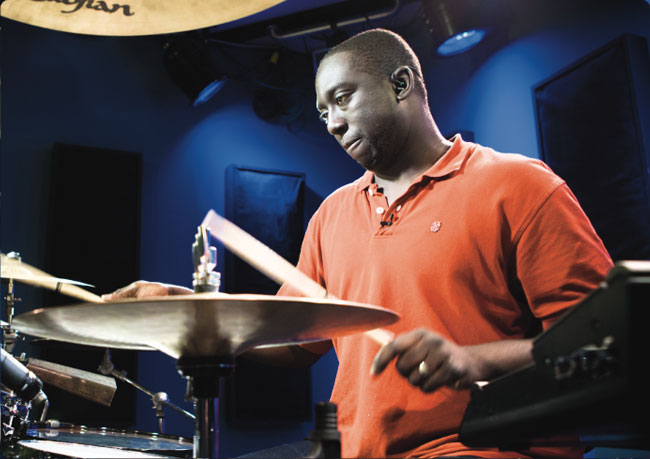 LARNELL LEWIS, an instructor for Drumeo.