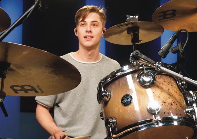 LUKE HOLLAND, an instructor for Drumeo.