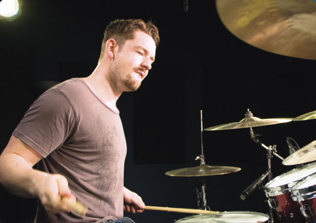 MATT GARSTKA, an instructor for Drumeo.