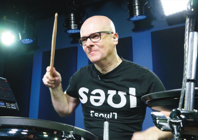 MICHAEL SCHACK, an instructor for Drumeo.