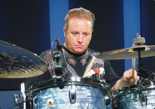 PAT PETRILLO, an instructor for Drumeo.