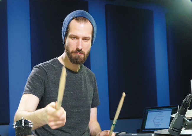 BENNY GREB, an instructor for Drumeo.