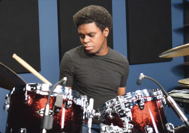 RODNEY HOLMES, an instructor for Drumeo.